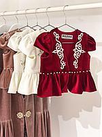 Национальный костюм для девочки красный