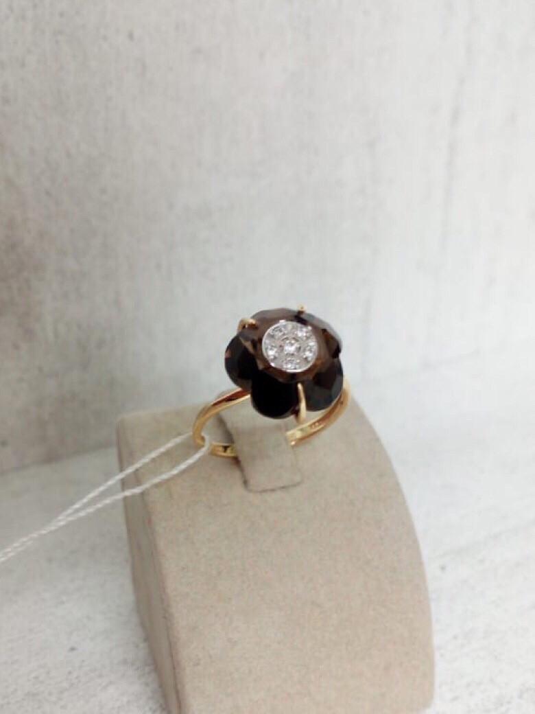 Кольцо с раухтопазом / 17 размер