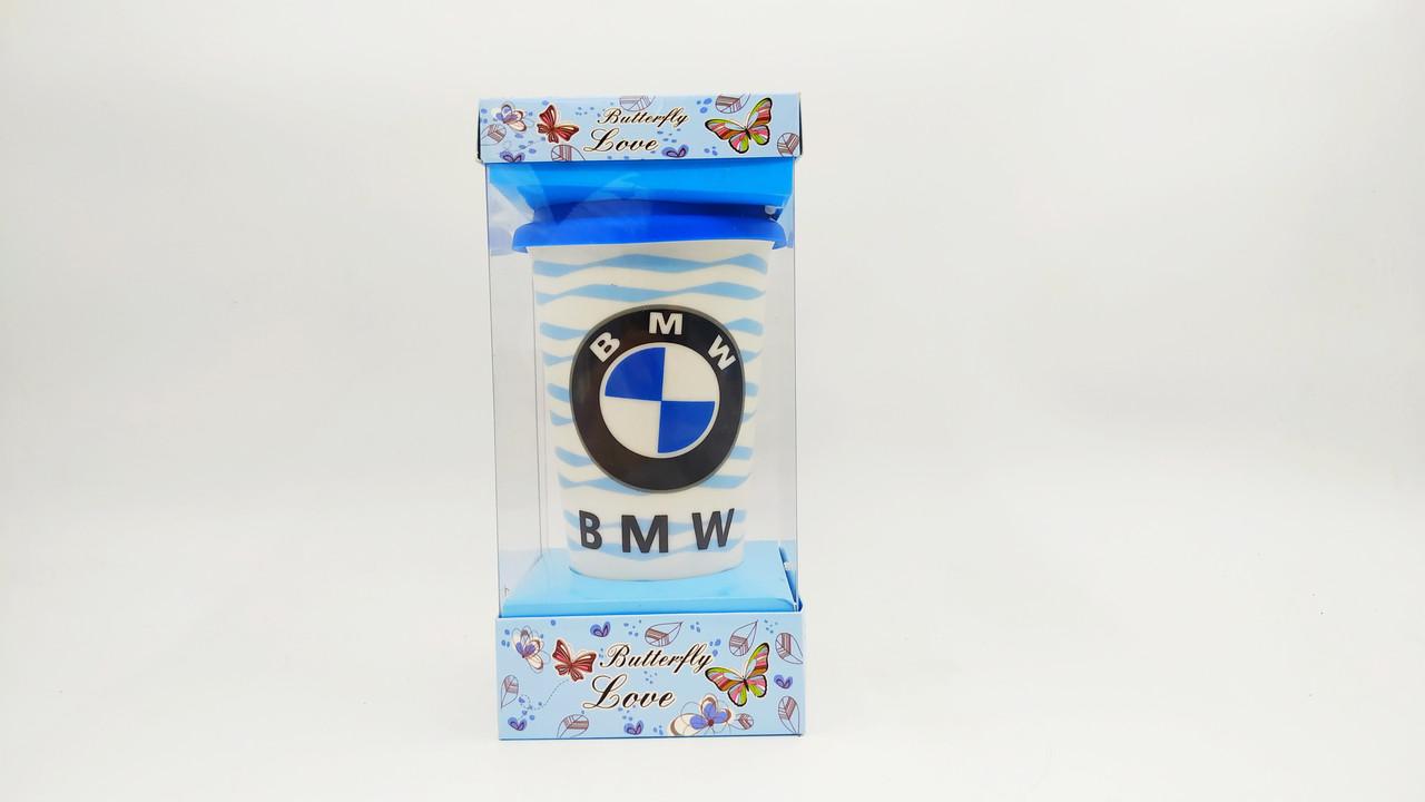 """Кружка """"BMW"""" с крышкой"""