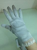 """Перчатки хлопок 100% для защиты от солнца (""""дышащая ткань"""")"""