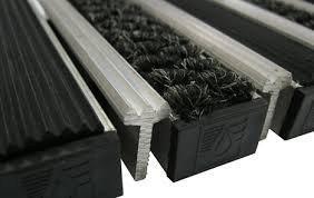 Придверные решетки Евро резина+текстиль+скребок , м.кв.