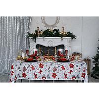 """Скатерть """"Доляна"""" Новогоднее настроение 180х149 см, 100% хлопок, 164 г/м2"""