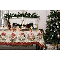 """Скатерть """"Этель"""" Новогоднее настроение 180х147см,100% хл,саржа 190гр/м2"""