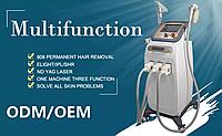 Многофункциональный косметологический аппарат с 3 в 1 лазер ipl + nd yag + диодный лазер 808 для эпиляции
