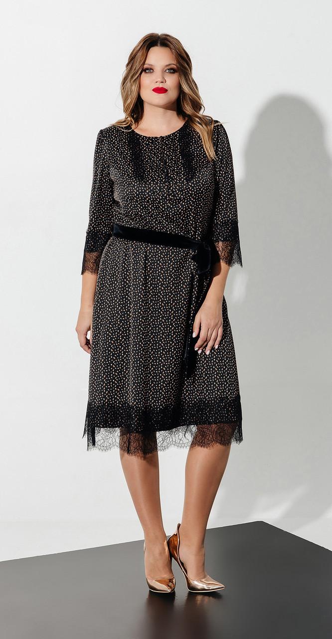 Платье Olegran-Д-615, темные тона, 50