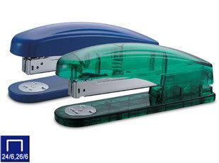 Степлер №24/6-26/6, 1-30л, пластик, прозрачный корпус Kw-trio