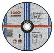 Круг отрезной Bosch 230х3х22,2 мм по металлу, прямой