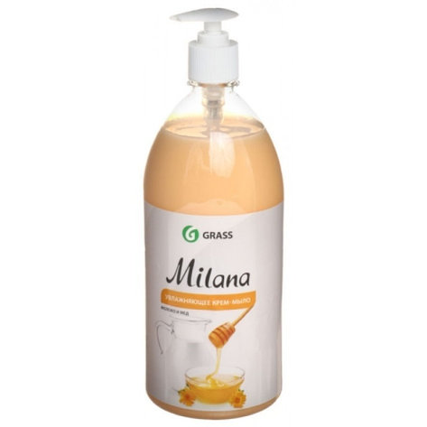 Жидкое крем-мыло Milana молоко и мед с дозатором , фото 2