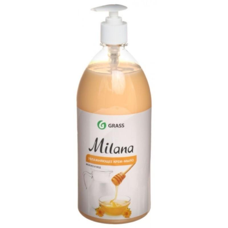 Жидкое крем-мыло Milana молоко и мед с дозатором