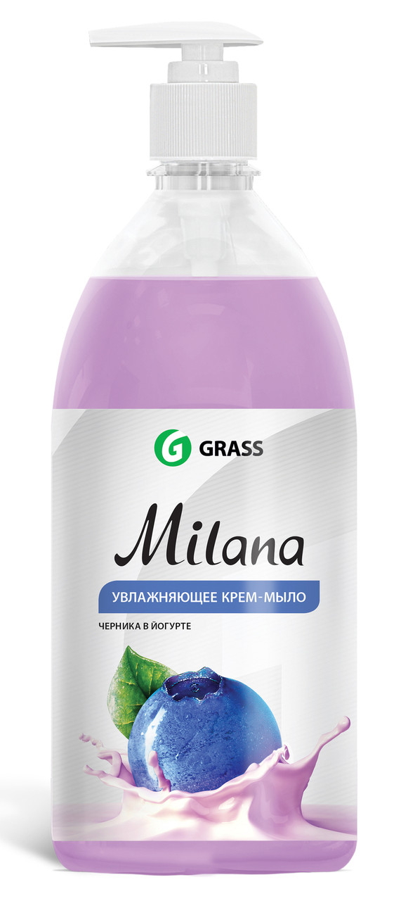 Жидкое крем-мыло Milana черника в йогурте с дозатором