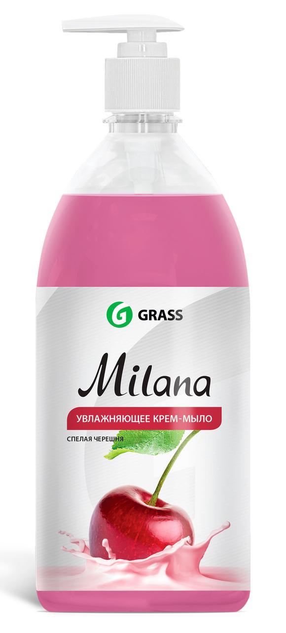 Жидкое крем-мыло Milana спелая черешня с дозатором