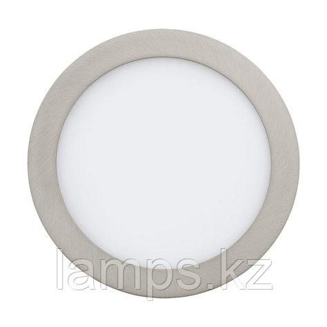 Встраиваемый светильник FUEVA 1, металл, пластик,LED-EINBAUSP.Ø225 NICKEL-M.4000K, фото 2