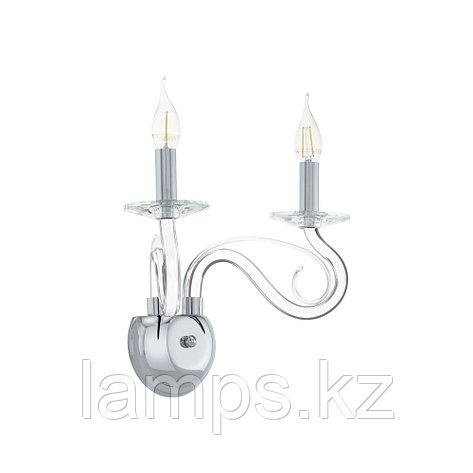 Настенный светильник сталь-хром-стекло MEDUNO 1 Е14 2*40W , фото 2