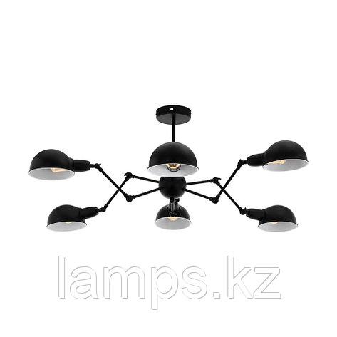 Светильник подвесной EXMOOR E27 6x 60W сталь сталь, черный Ø:900 mm, фото 2