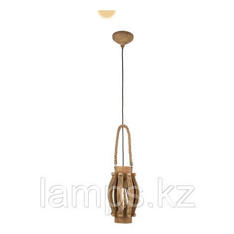 Светильник подвесной KINROSS, сталь, дерево , фото 2