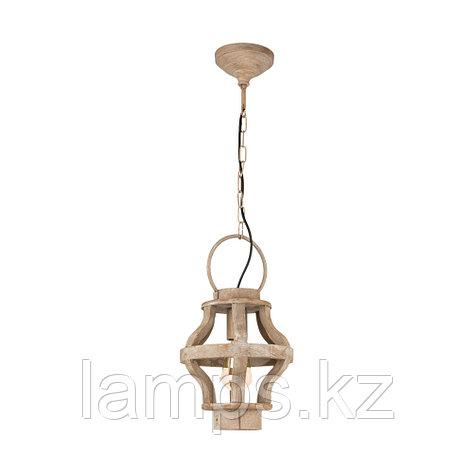 Светильник подвесной KINROSS    BRAUN, сталь, дерево, HL  1 Ø235  , фото 2