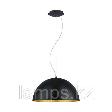 Светильник подвесной GAETANO 1 сталь blak,gold    Е27 1*60W, фото 2
