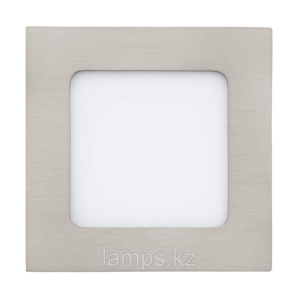 Светильник встраиваемый FUEVA1, металл, пластик, LED-EINBAUSP.120X120 NICKEL 4000K