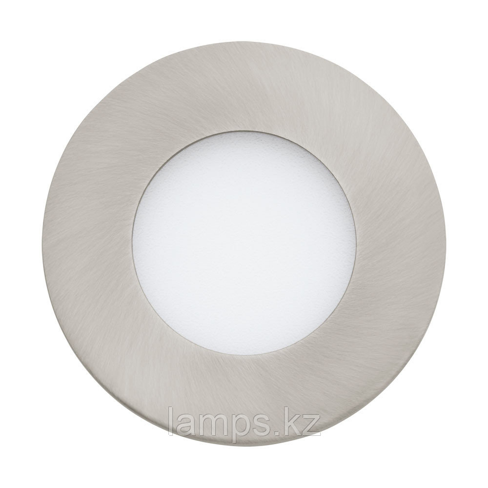Светильник встраиваемый  FUEVA 1, металл, пластик, LED-EINBAUSPOT Ø85 NICKEL 4000K