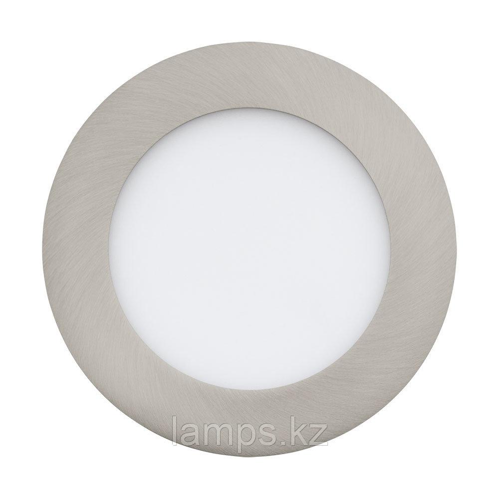 Светильник встраиваемый  FUEVA 1, металл, пластик,LED-EINBAUSPOT Ø120 NICKEL 4000K