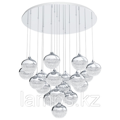 Светильник подвесной MIOGLIA, сталь, пластик, стекло, фото 2