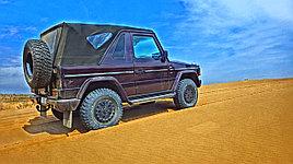 Джип сафари в песчаной пустыне Тау кум вблизи Алматы