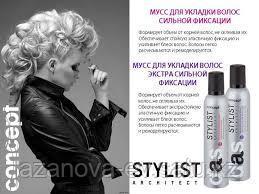 Concept, Мусс для укладки волос экстрасильной фиксации, 300 мл