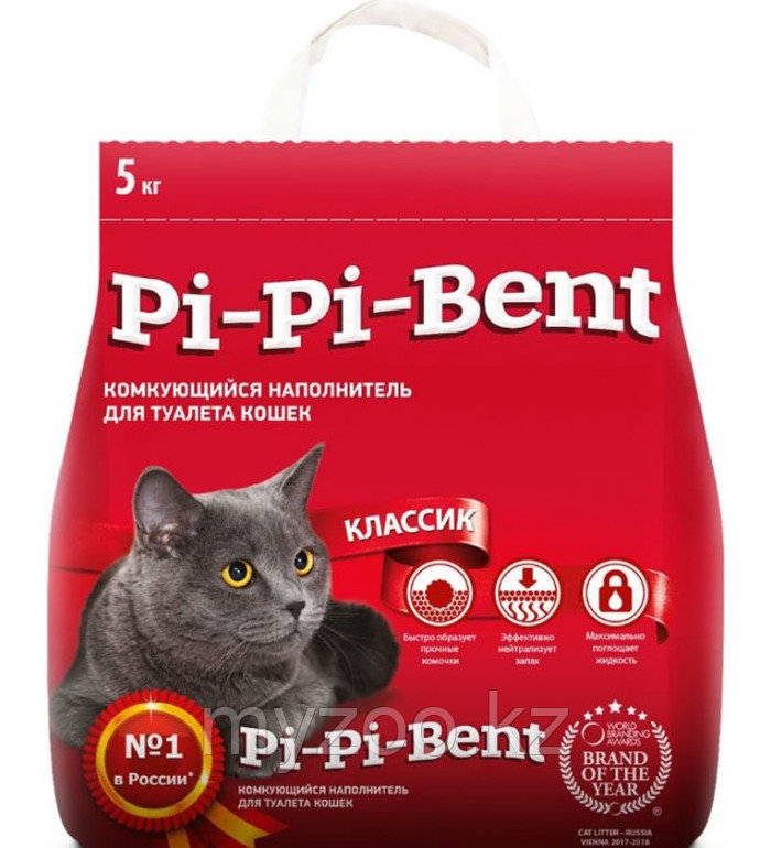 Наполнитель(Pi-Pi-Bent) Пи-Пи-Бент (пакет) 5кг