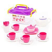 """Набор детской посуды """"Алиса"""" на 4 персоны (19 элементов) (в контейнере)"""