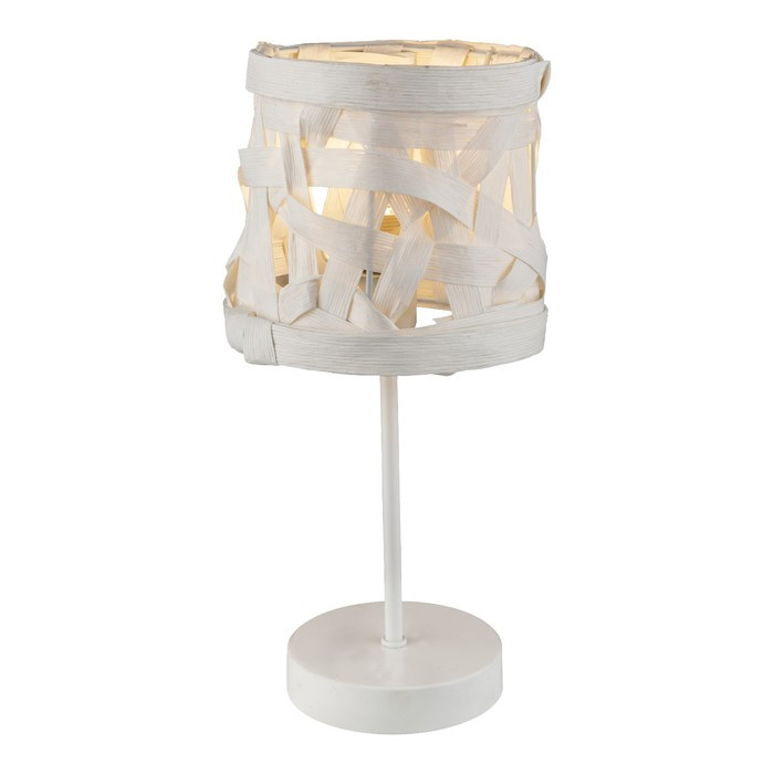 Настольная лампа SALVADOR 1x40Вт E14 белый 17x17x35см