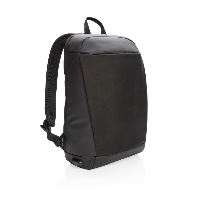 Антикражный рюкзак Madrid с разъемом USB и защитой RFID, черный, Длина 30 см., ширина 14,5 см., высота 45,5