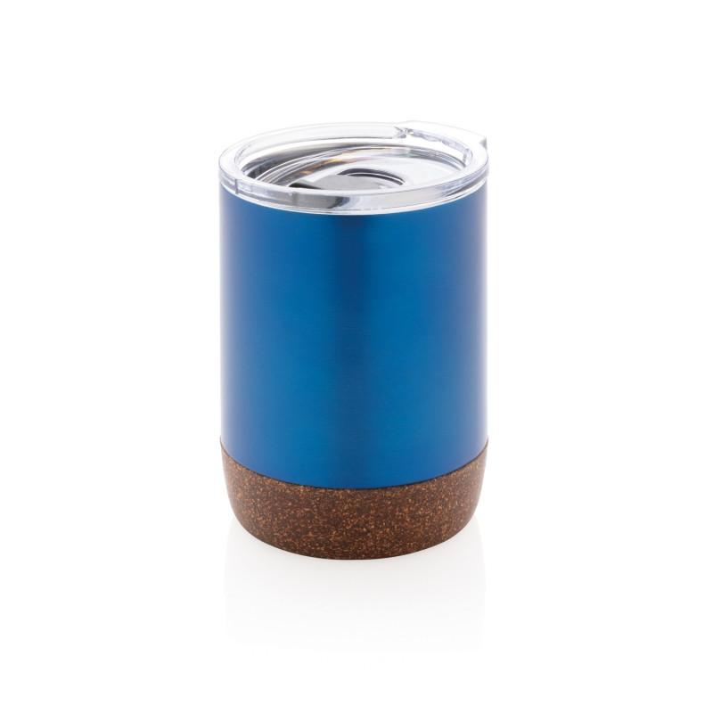 Вакуумная термокружка Cork для кофе, 180 мл, синий, , высота 10 см., диаметр 7,2 см., P432.265