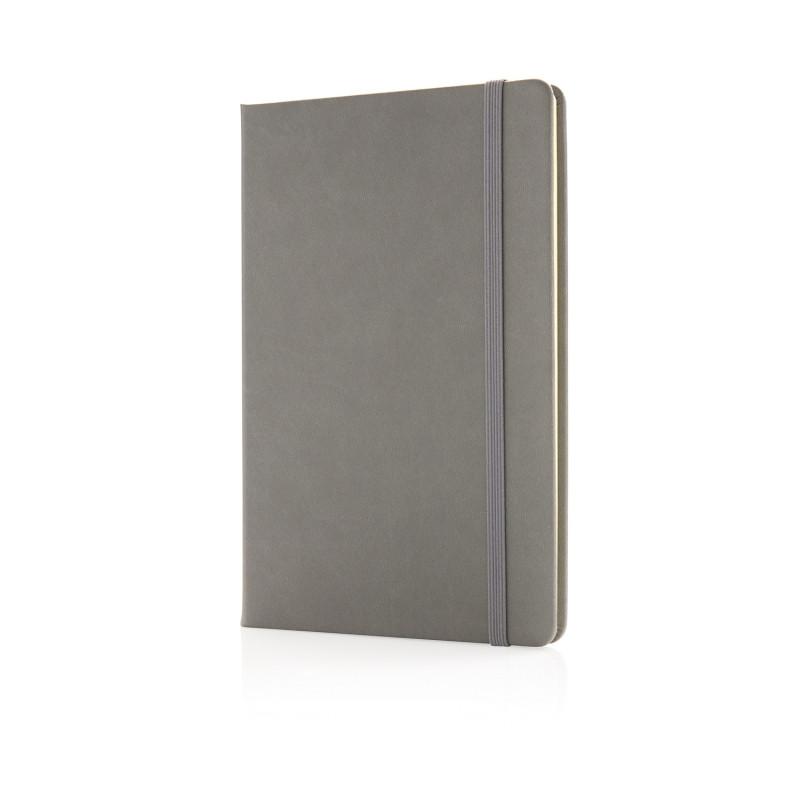 Блокнот Deluxe в твердой обложке A5, серый, Длина 1,5 см., ширина 14,5 см., высота 21,5 см., P773.422