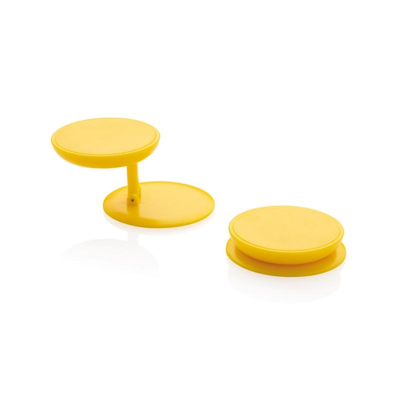 Универсальный держатель для телефона Stick n Hold, желтый, , высота 0,8 см., диаметр 4 см., P324.776