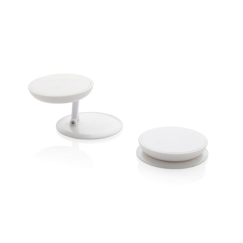 Универсальный держатель для телефона Stick n Hold, белый, , высота 0,8 см., диаметр 4 см., P324.773