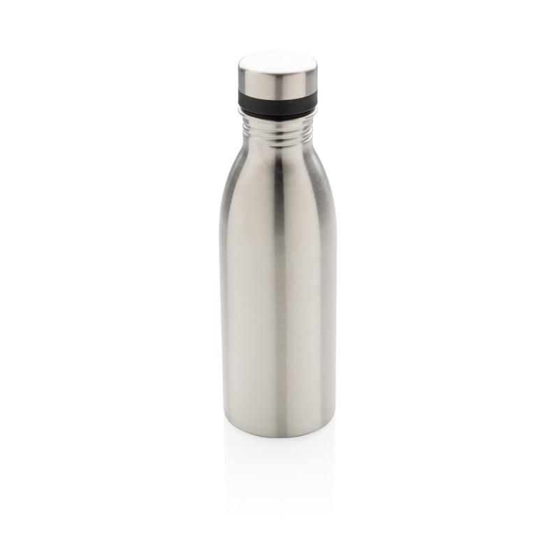 Бутылка для воды Deluxe из нержавеющей стали, 500 мл, серебряный, , высота 21,5 см., диаметр 6,6 см., P436.412