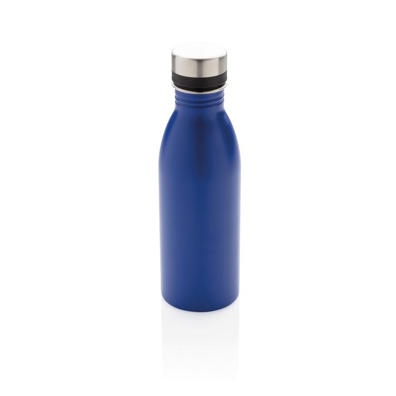 Бутылка для воды Deluxe из нержавеющей стали, 500 мл, синий, , высота 21,5 см., диаметр 6,6 см., P436.415