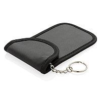 Чехол-блокиратор для смарт ключа, черный, Длина 12,5 см., ширина 8,5 см., высота 0,8 см., P820.621, фото 1