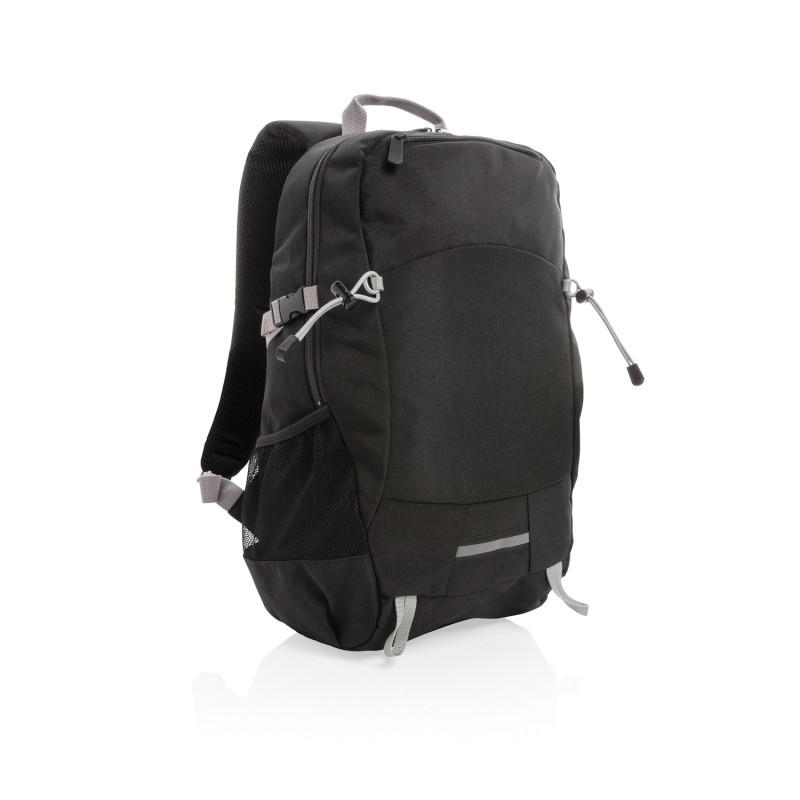 Рюкзак Outdoor с RFID защитой, без ПВХ, черный; серый, Длина 32 см., ширина 16 см., высота 47,5 см., P762.491