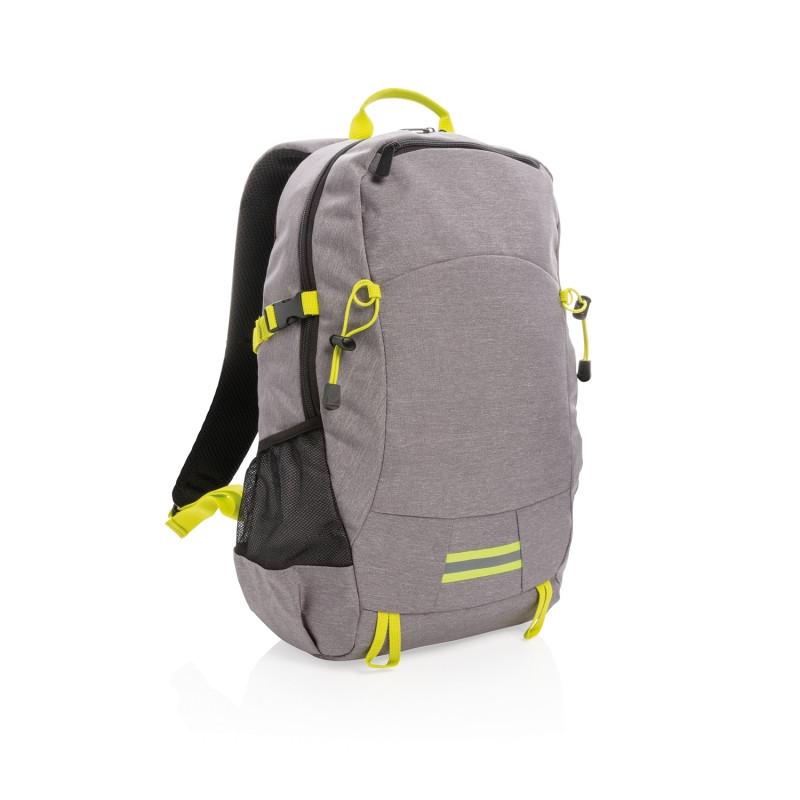 Рюкзак Outdoor с RFID защитой, без ПВХ, серый; желтый, Длина 32 см., ширина 16 см., высота 47,5 см., P762.492