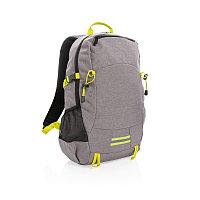 Рюкзак Outdoor с RFID защитой, без ПВХ, серый; желтый, Длина 32 см., ширина 16 см., высота 47,5 см., P762.492, фото 1