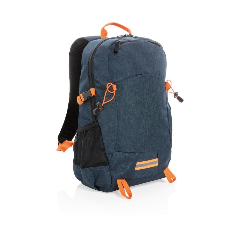 Рюкзак Outdoor с RFID защитой, без ПВХ, синий; оранжевый, Длина 32 см., ширина 16 см., высота 47,5 см.,