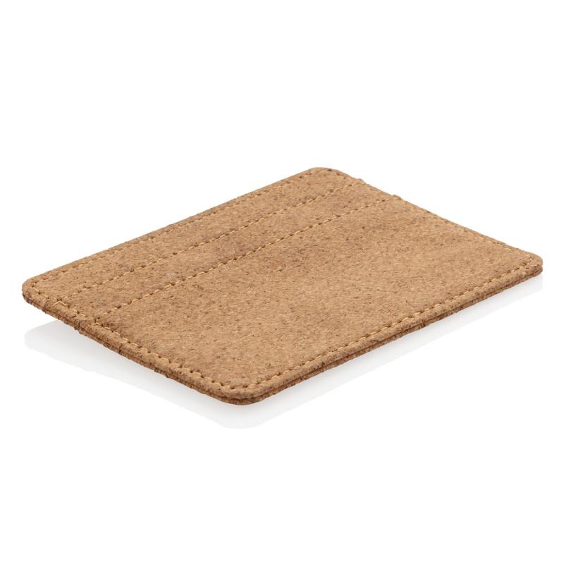 Эко-кошелек Cork c RFID защитой, коричневый, Длина 10,2 см., ширина 0,2 см., высота 7,6 см., P820.879