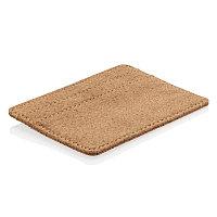 Эко-кошелек Cork c RFID защитой, коричневый, Длина 10,2 см., ширина 0,2 см., высота 7,6 см., P820.879, фото 1