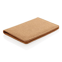 Эко-обложка для паспорта Cork  с RFID защитой, коричневый, Длина 14 см., ширина 0,8 см., высота 10,5 см.,