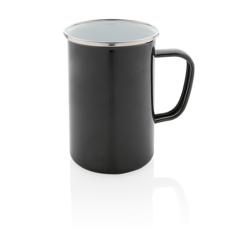 Эмалированная кружка Vintage XL, черный, , высота 13 см., диаметр 9,2 см., P432.371