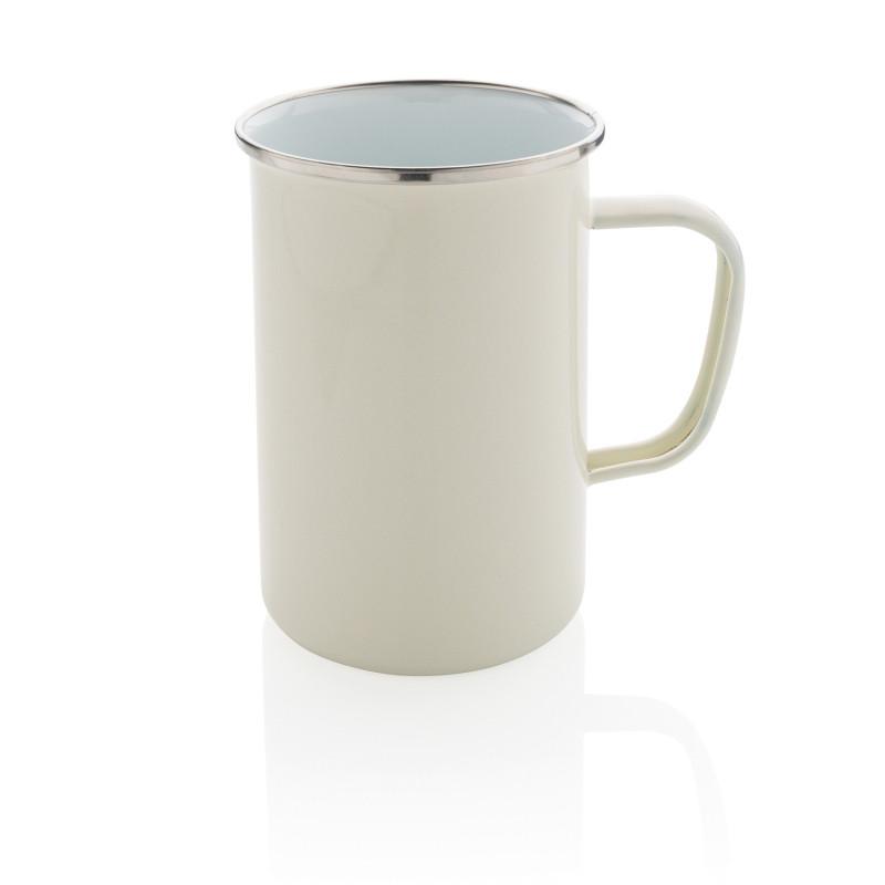 Эмалированная кружка Vintage XL, белый, , высота 13 см., диаметр 9,2 см., P432.373