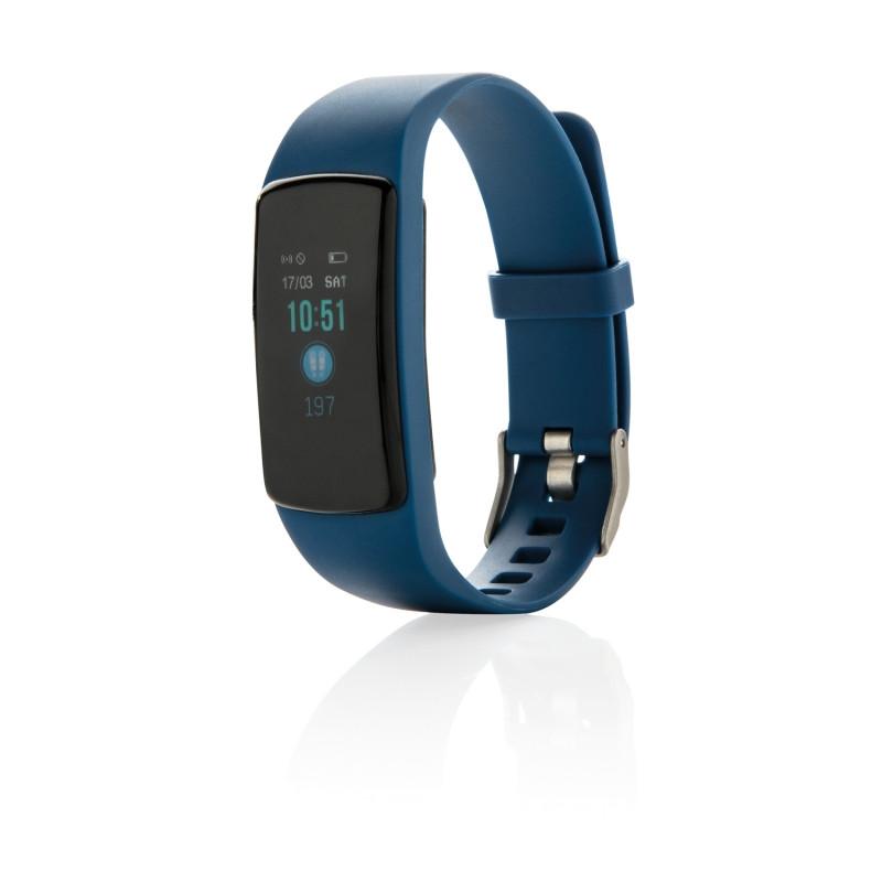 Фитнес-браслет Stay Fit, синий, Длина 22 см., ширина 3,5 см., высота 1,1 см., P330.745