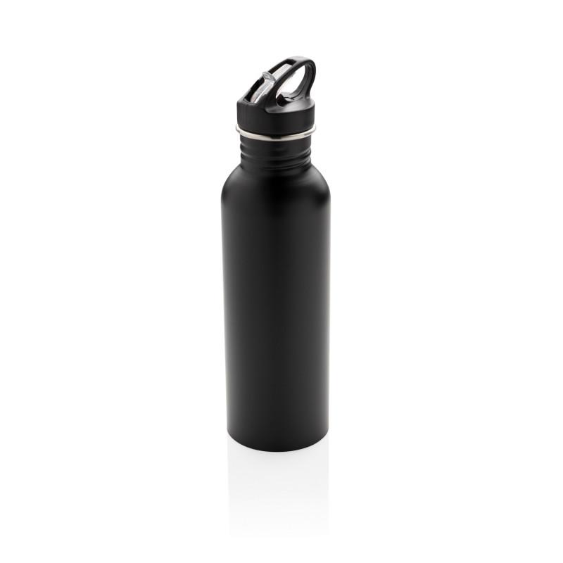 Спортивная бутылка для воды Deluxe, черный, , высота 26 см., диаметр 7 см., P436.421