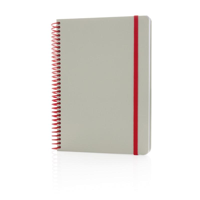 Блокнот на спирали Deluxe, A5, красный; серый, Длина 15,1 см., ширина 21 см., высота 2 см., P772.134